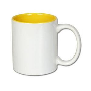 Kubek z żółtym wnętrzem